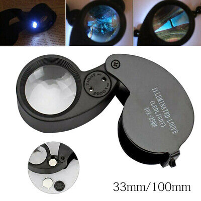 Jewellers Jewellery 40x-25mm Loupe Magnifying Glass Magnifier Glass Eye Lens UK. • 3.68£