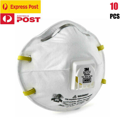 AU149.99 • Buy 10Pcs 3M 8210VCN N95 P2 Particulate Respirator Cool Flow™ Valve Protective Mask