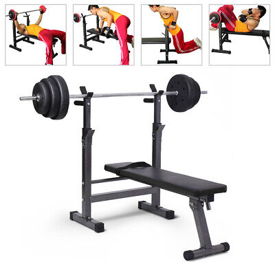 Folding Flat Weight Lifting Bench Body Workout Exercise Machine Home Fitness Up • 69.99£