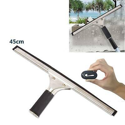 45cm Glass Window Cleaning Squeegee Blade Wiper Cleaner Home Shower Bathroom Ace • 4.95£