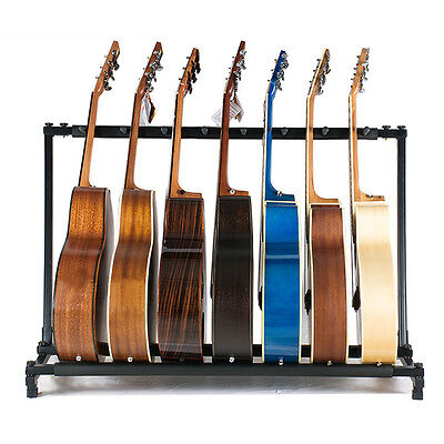 $ CDN30.92 • Buy 7Way Multi Guitar Stand Foldable Acoustic Electric Electric Bass Guitar Rack