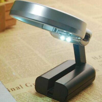 Folding Magnifying Glass With LED Light And Adjustable Lamp Magnifier Handheld.. • 4.98£