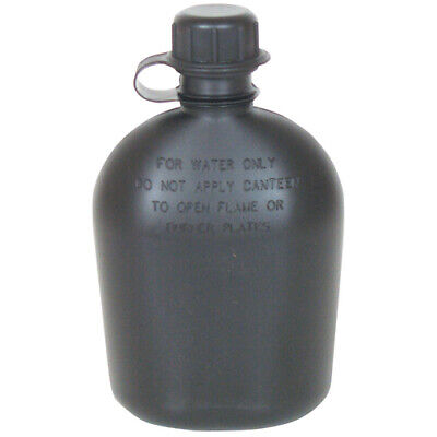 $ CDN9.16 • Buy 1 Qt. Canteen (2-Piece) Canteen & Cap Military Police Black Camping Bushcraft