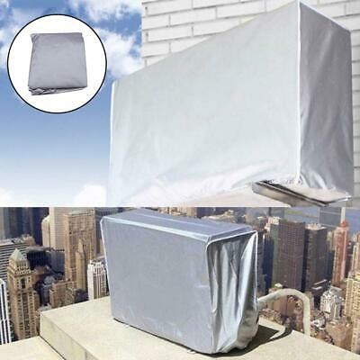 AU12.59 • Buy Silver Outdoor Air Conditioner Cover Anti-Dust Waterproof Air Conditioner Hood