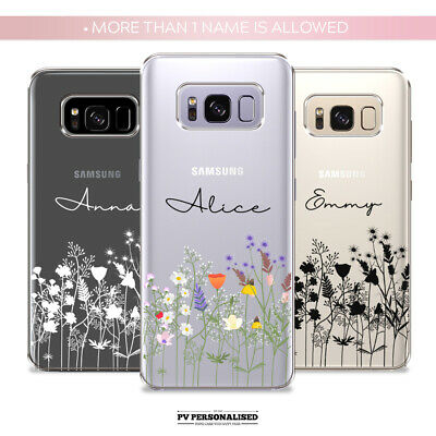 $ CDN10.28 • Buy Personalised Phone Case Initials Name Silicone Cover Floral For Samsung  S10 S9