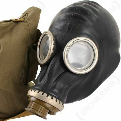£16.49 • Buy GP5  Soviet Russian Army Gas Mask  NEW (GP-5) + Canvas Bag!!!  Color In Black