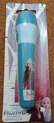 Children's Kids LED Torch Disney Frozen 2 Character Bright Night Toy Gift New • 6.99£