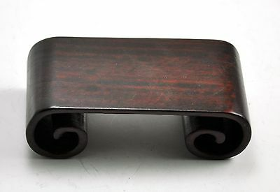 $15 • Buy 3.7  Rectangular Carved Natural Wood Display Stand Base Figurine Statue Scroll