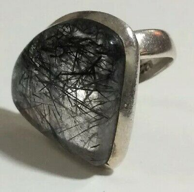 £28.84 • Buy Beautiful Ring Mourning Hair Stone 925 Sterling Silver Size 5