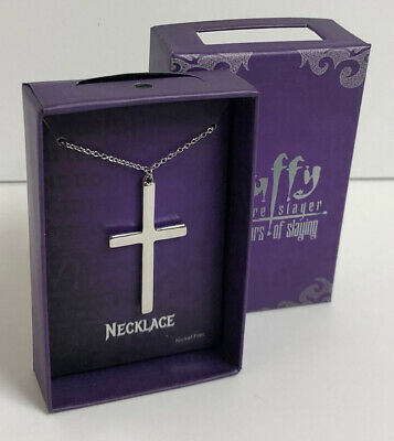 $98 • Buy FvbBuffy The Vampire Slayer Cross Necklace 20th Anniversary Prop Replica Jewelry