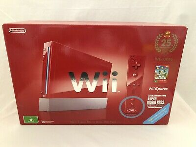 AU329 • Buy Nintendo Wii Super Mario Bros. 25th Anniversary Red Console Like New In Box Aus
