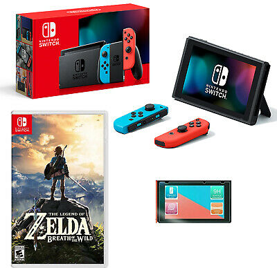 $499.99 • Buy NEW Nintendo Switch Neon Bundle Zelda: Breath Of The Wild + Screen Protector