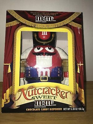 $29 • Buy MM M&M RED Nutcracker Sweet Candy Dispenser Limited Edition
