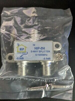 AU9.98 • Buy HIP-2H: 2 Way TV Antenna Splitter 5-1000 Mhz Free Shipping!