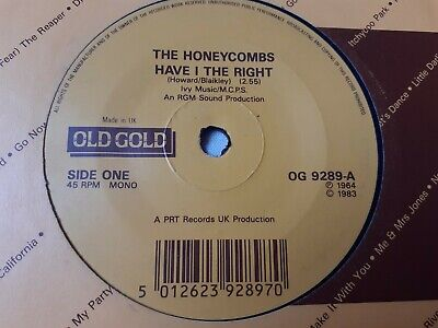 Honeycombs - Have I The Right / That's The Way - Old Gold 7   • 3.69£