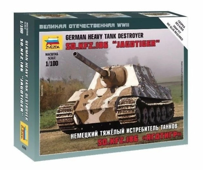 AU9.99 • Buy Zvezda 6206 1/100 Sd.Kfz.186 Jagdtiger Heavy Tank Destroyer Plastic Model Kit