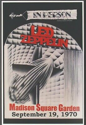 $18.95 • Buy Led Zeppelin 13  X 19  Reproduction Concert Poster Archival Quality 02