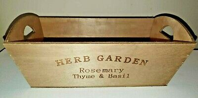 Wooden Garden Herb Planter Window Box Trough Pot Succulent Flower Plant Bed  • 3.50£