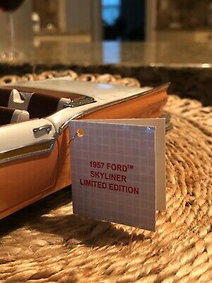$360 • Buy Franklin Mint 1957 Ford Skyliner Retractable  Le 1:24 Scale Die Cast Mib