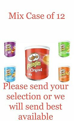 Pringles Mixed Flavours Crisps 12 X 40g Tub,No.1 Fastest Growing Brand* Fast P&P • 8.99£