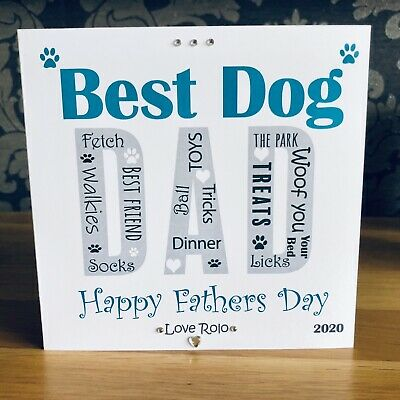 £2.99 • Buy Handmade Personalised Father's Day Card Birthday Card Dog Dad From The Dog 🐾