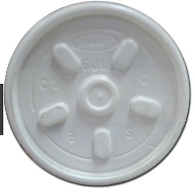 7 OZ POLYSTYRENE Take Away Cafe Coffee Drink CUP LID X 100 • 5.99£
