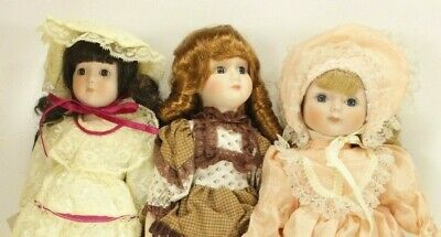 $ CDN67.65 • Buy Lot Of 3 Heritage Porcelain Dolls Musical Wind Up With Boxes