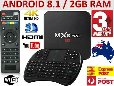 AU68.92 • Buy *2020* MXQ PRO 4K QuadCore WiFi Smart TV Box Media Player Android 8.1 | AU Plug