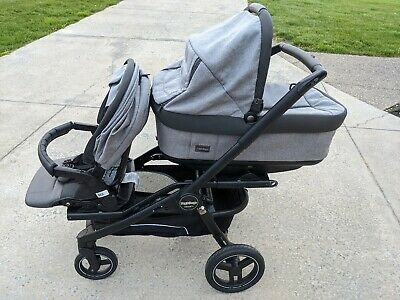 $400 • Buy Peg Perego Team Stroller With Bassinet, Toddler Seat Plus Double Seat Adapter.
