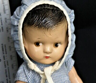 $26.50 • Buy VINTAGE 8.5  ALL COMPOSITION Painted Eye, Patsy Look Doll  *FREE SHIPPING*