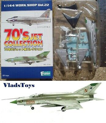 1 F-Toys 70/'S jet Collection vol.22 Mig21 aircraft 2-A 1//144 scale Free Shipping