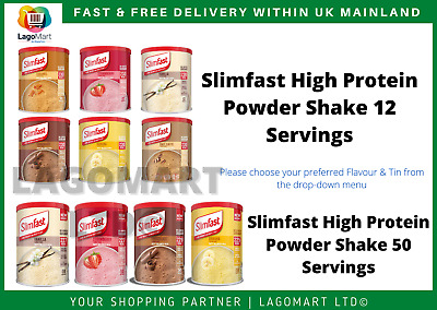 Slimfast Powder Shake 438g 12 Serving & 50 Serving Meal Replacement | Shakers • 10.99£