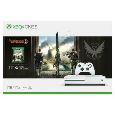 $399.99 • Buy NEW Microsoft Xbox One S 4K HDR Division 2 Limited Edition Bundle 1TB
