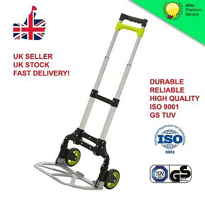 Heavy Duty Foldable Hand Sack Truck Cart Lightweight Trolley Professional 75KG • 25.99£