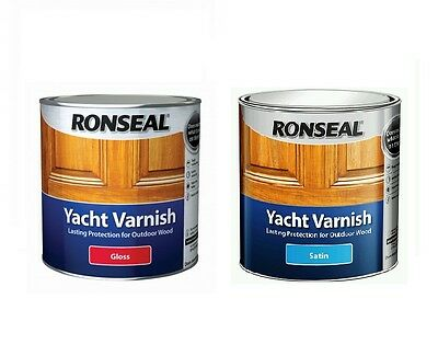 Ronseal Exterior Long Lasting Yacht Varnish Satin Gloss Finishes All Sizes • 54.95£