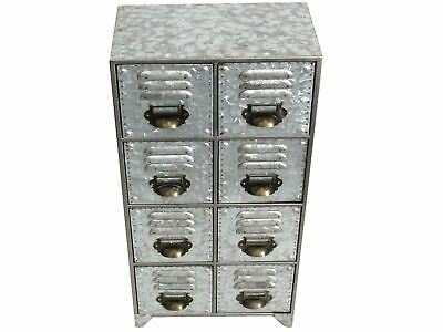 Industrial Metal Cabinet - 8 Drawer Unit With A Distressed Look • 58.49£