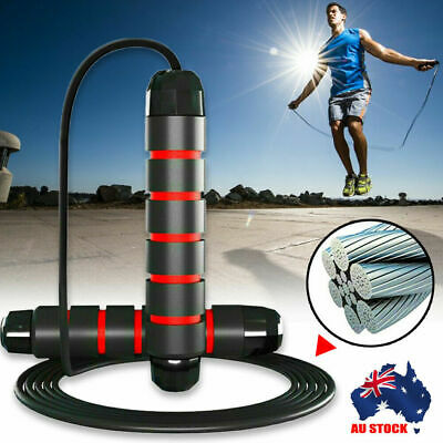 AU9.59 • Buy Heavy Weighted Skipping Jump Rope Sweat-proof For Boxing MMA Fitness Sport Force