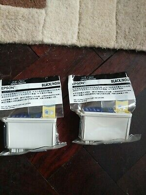 2 X Genuine Sealed Epson Ink Cartridges - T007 - Black Fast Free Delivery • 11.95£