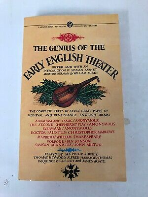$4.99 • Buy The Genius Of The Early English Theater Book Vintage 1962
