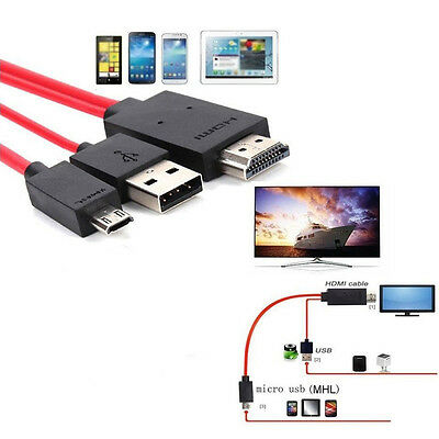 AU13.55 • Buy For Android Cell Phone MHL Micro USB To HDMI 1080P HD TV Cable Wire Cord Adapter