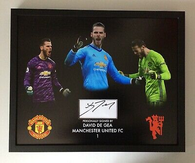 David De Gea Manchester United FC Hand Signed • 240£