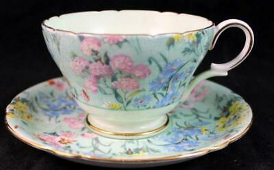 Shelley MELODY (HENLEY SHAPE) Footed Cup & Saucer Z12974 GREAT CONDITION • 69.85£