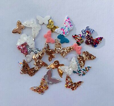 20/50/70/100 Pieces Of 2x Size Butterfly Embellishments • 2.79£