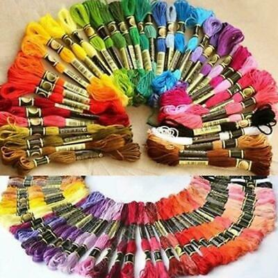 AU35.09 • Buy 200* Cotton DMC Cross Floss Stitch Thread Embroidery Sewing Skeins Multi Colors