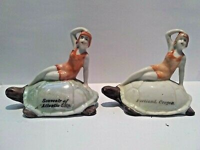 Lot Of 2 Miniature Bisque Figurine - Nude Bathing Beauty. Lot 25 • 24.99£