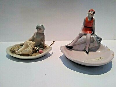 2 X Miniature Bisque Figurine - Nude Bathing Beauty. Lot 27 • 24.99£