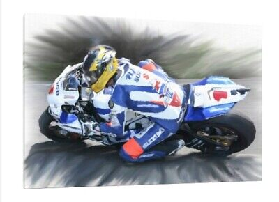 Guy Martin #15 Of 100 - 30x20 Inch TT Canvas Art Limited Edition • 44.95£