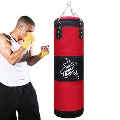 AU92.83 • Buy Punch Bag 2.6ft 3.2ft 4ft Hanging Boxing Heavy MMA Punching Training No Filling