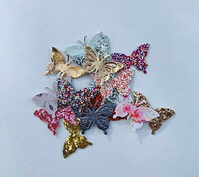 10/20/50 Pieces Of Butterfly Embellishments  • 1.99£
