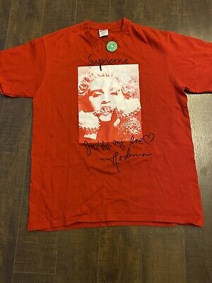 $ CDN110 • Buy Authentic Supreme Madonna Red T Shirt